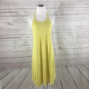 ANTHROPOLOGIE Yellow Striped Swing Dress